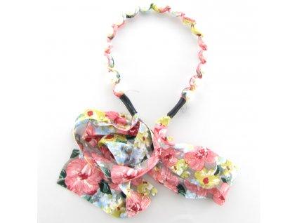 Čelenka do vlasů s perlami - Jarní květina