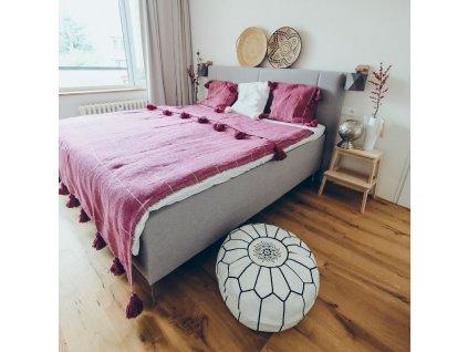 Přehoz na postel s třásněmi Fuchsia
