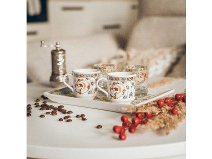 Keramický set na kávu pro dva - Cicek