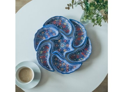 Snídaňový set Ahmet - modrý - keramický