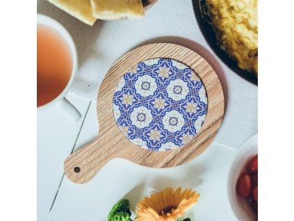 Podložka pod pánev s marockým motivem - Chefchaouen