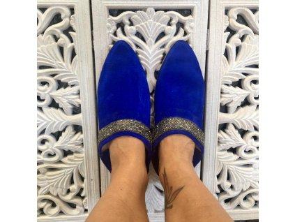 Arabské babouche Amal - modré