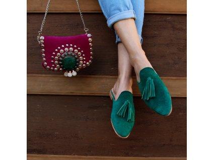 boty mules zelene 01