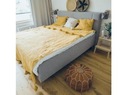 Přehoz na postel s třásněmi Sahara