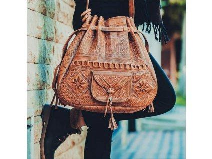 kabelka svetle hneda