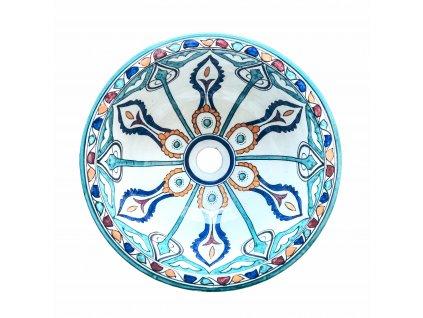 Ručně malované orientální umyvadlo Marrakéš