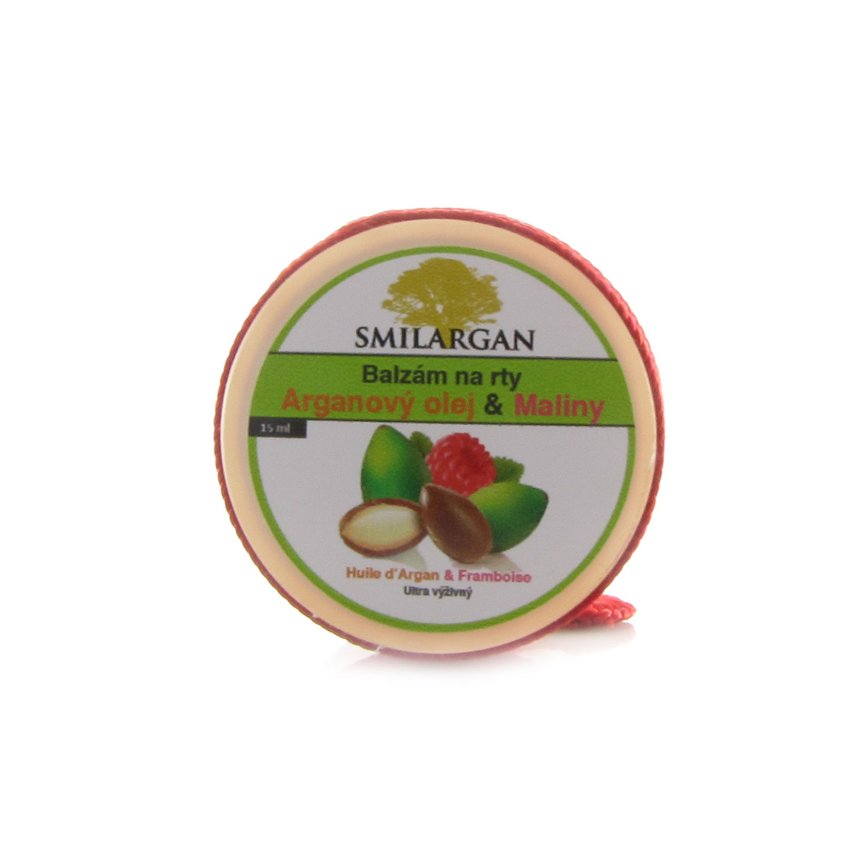 Smilargan Balzám na rty s arganovým olejem a malinami 15ml