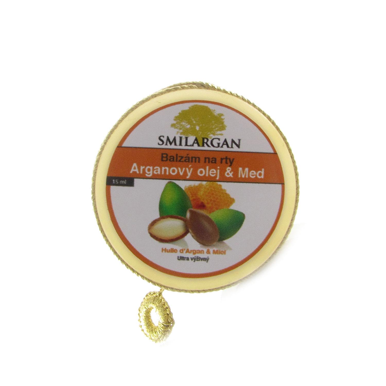 Smilargan Balzám na rty s arganovým olejem a medem 15ml