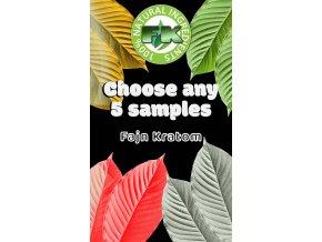 Choose any 5 sample kratom veins