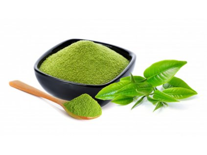powder green tea green tea leaf isolated white 62856 4426