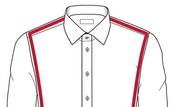 Střih košile modern fit, který padne na většinu postav