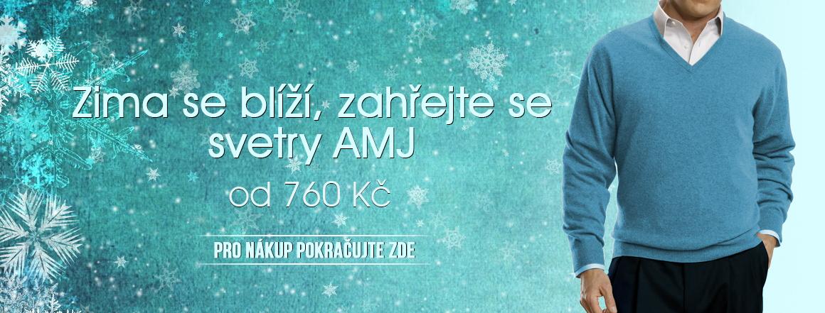 Zima se blíží AMJ svetry od 760 Kč