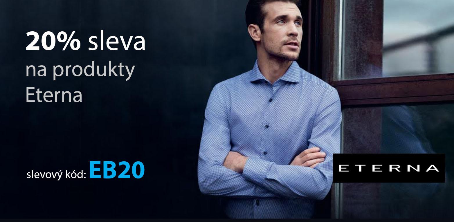 sleva 20% na nežehlivé košile Eterna