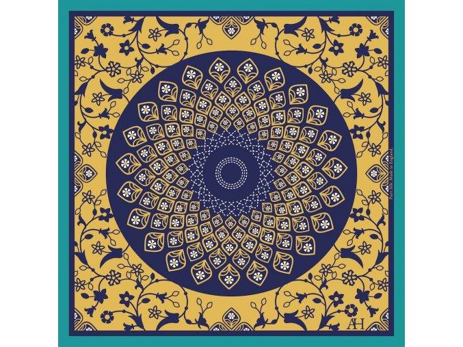 Společenský kapesníček hedvábný AARON HALES - Paradise