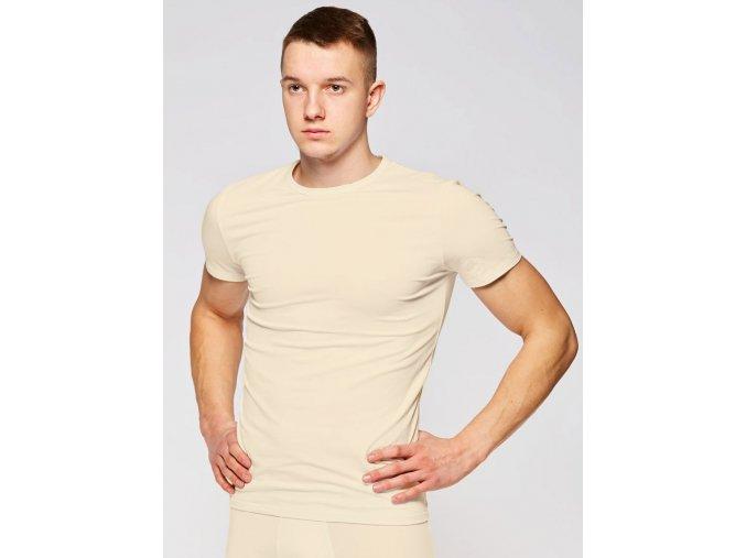 Pánské triko Fabio Amante T-Shirt -smetanové