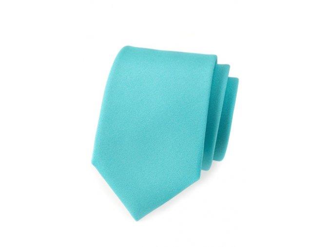 Kravata Avantgard Lux - tyrkysová