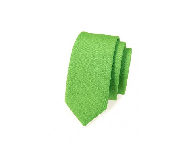 Úzká luxusní kravata Avantgard - zelená