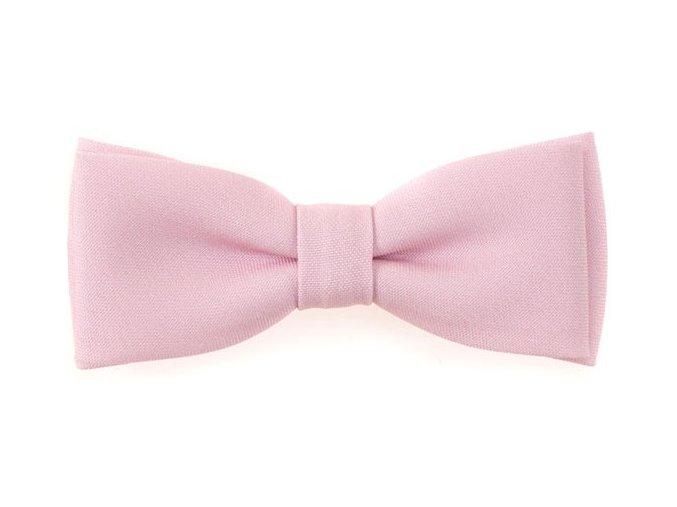 Dvojitý motýlek Avantgard s kapesníčkem - růžový matný