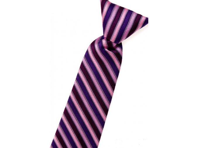 Chlapecká kravata Avantgard - růžová