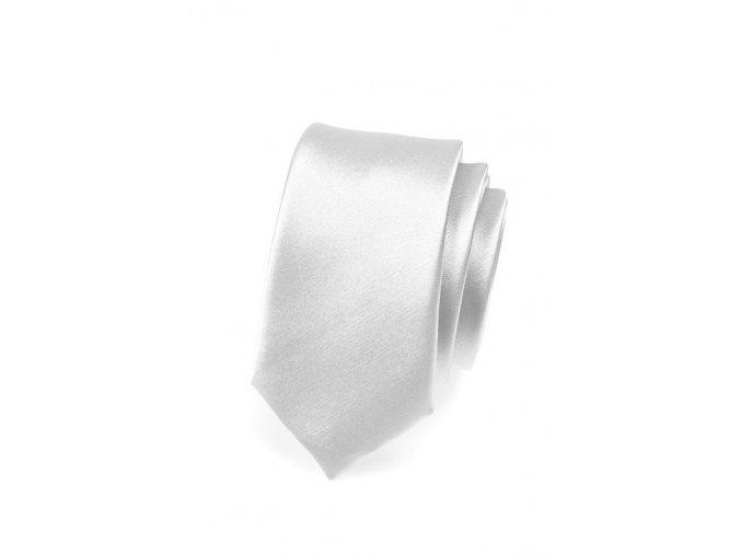 Úzká kravata Avantgard - stříbrná