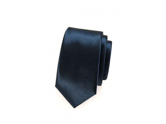 Úzká kravata Avantgard Lux - tmavě modrá
