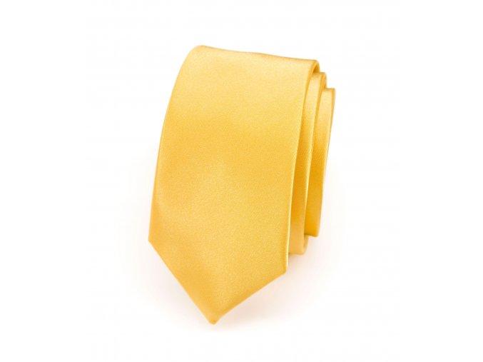 Úzká kravata Avantgard Lux - žlutá