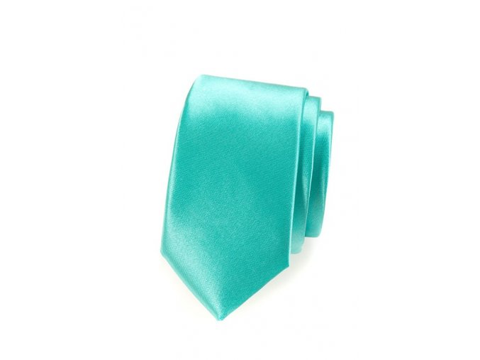 Úzká luxusní kravata Avantgard - mátová