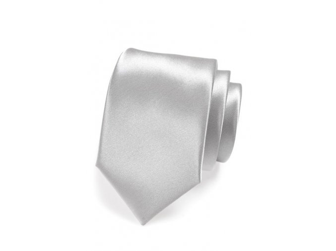 Kravata Avantgard Lux - stříbrná