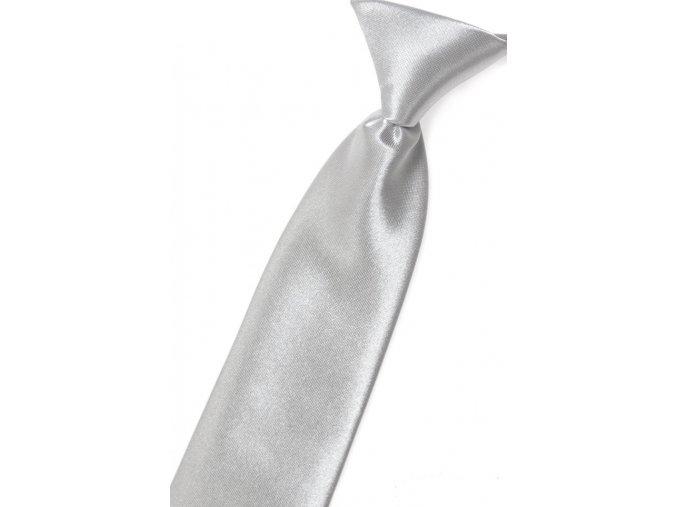 Chlapecká kravata Avantgard Young - stříbrná