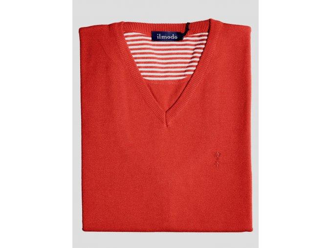 Pánský svetr Ilmodo - tmavě červený