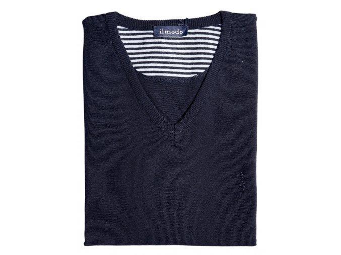 Pánský svetr Ilmodo - tmavě modrá