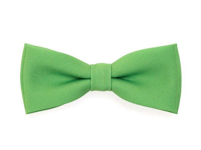 Dvojitý motýlek Avantgard s kapesníčkem - zelený matný