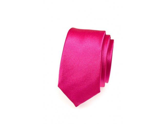 Úzká kravata Avantgard - růžová