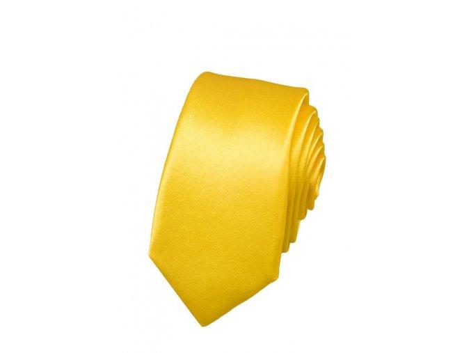 Úzká kravata Avantgard - žlutá
