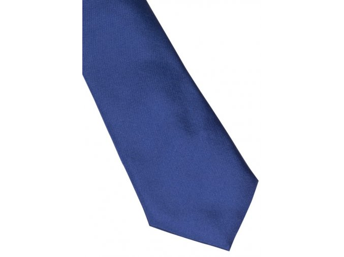 Úzká hedvábná kravata Eterna -  modrá