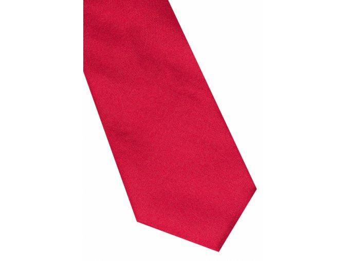 Úzká hedvábná kravata Eterna - červená
