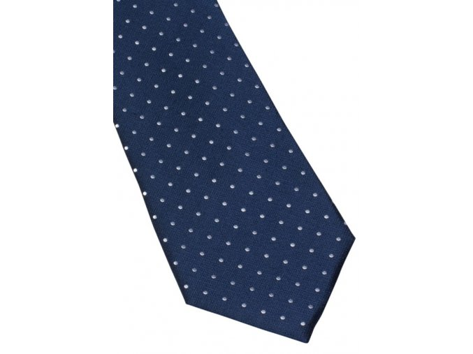 Vzorovaná kravata Eterna - navy modrá a bílé tečky