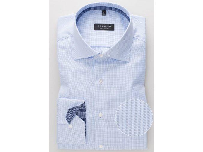 "Košile Eterna Comfort Fit ""Streifen Twill "" Modrá"