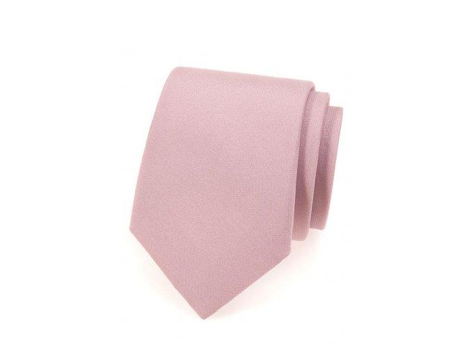 Kravata Avantgard - pudrová matná