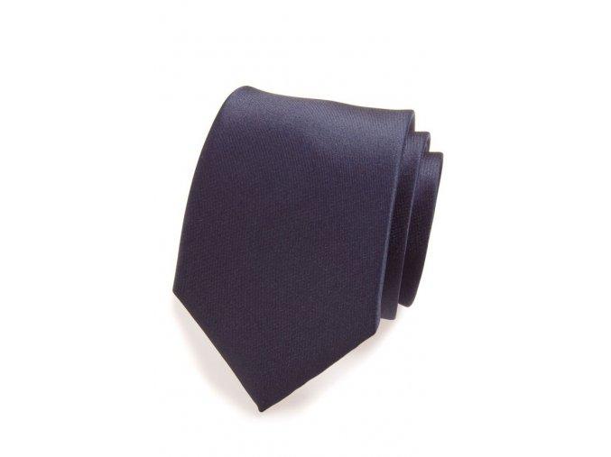 Kravata Avantgard Lux -  navy modrá matná