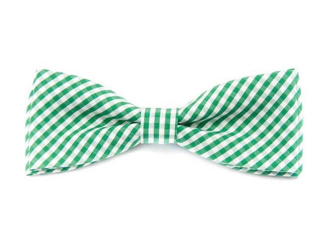 Dvojitý motýlek Avantgard bavlněný - zelený