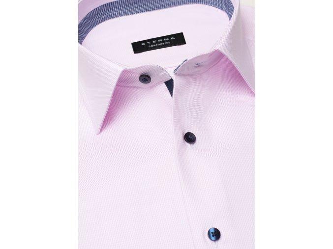 """Košile Eterna Comfort Fit """"Streifen Twill """" Růžová"""