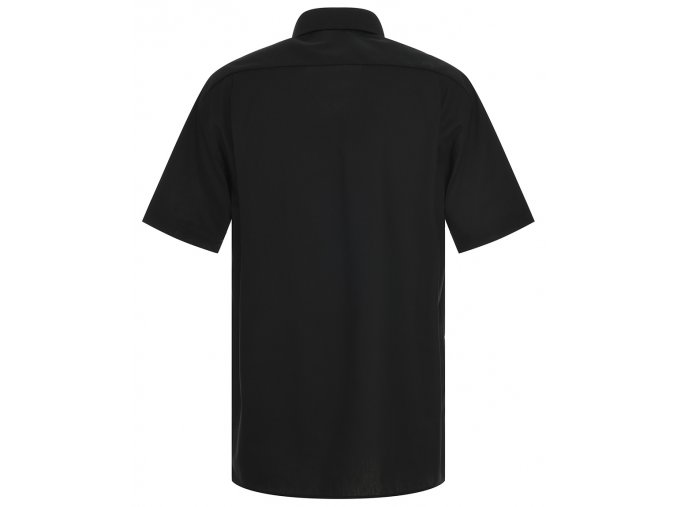 """Košile Eterna Comfort Fit """"Popeline"""" s krátkým rukávem Černá"""