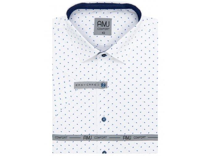 Košile AMJ Style s krátkým rukávem Bílá