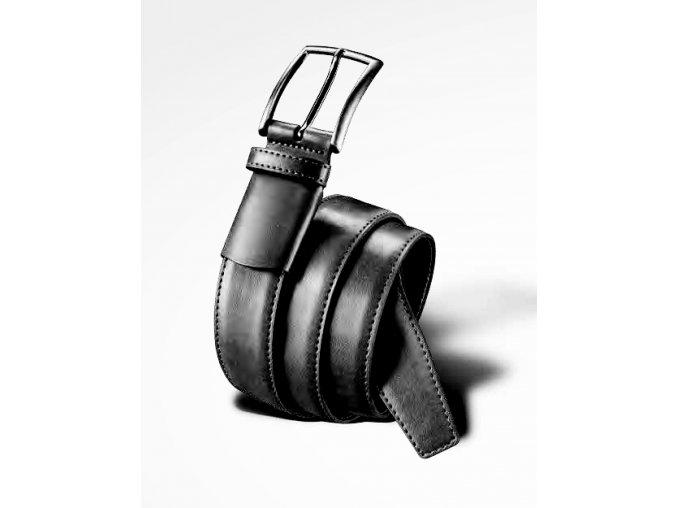 Pánský kožený flexi opasek - černý