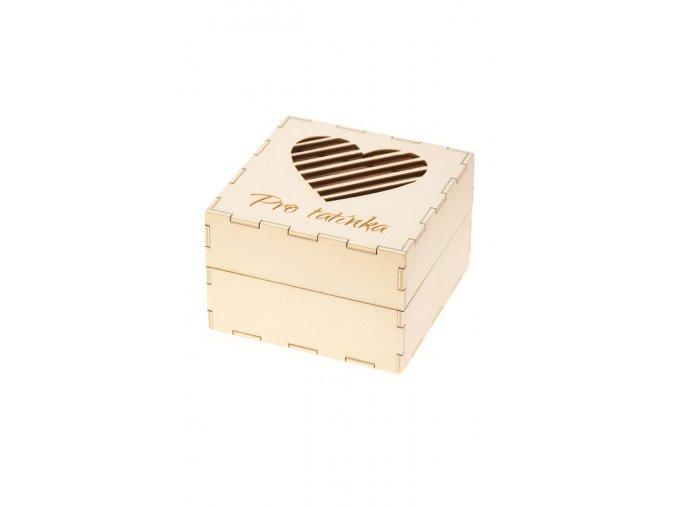 """Dřevěná dárková krabička na kravatu """"Pro tatínka"""""""