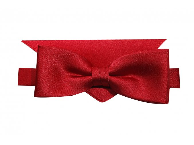 Dvojitý motýlek Brinkleys Modern s kapesníčkem - červený