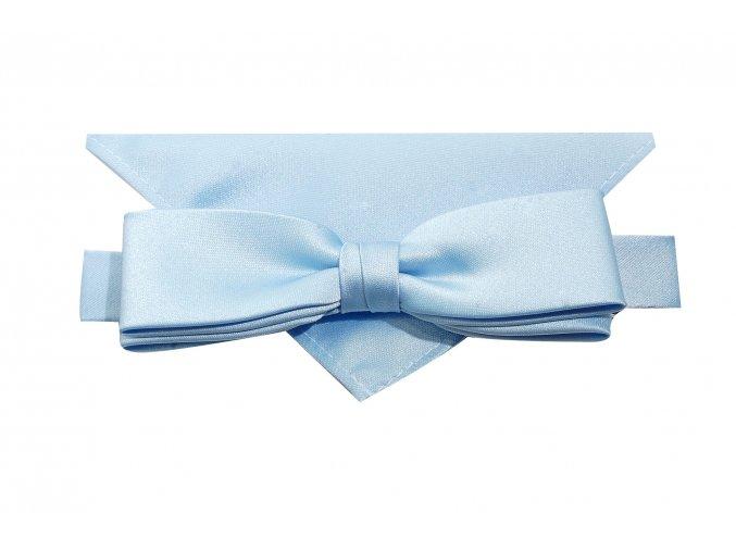 Dvojitý motýlek Brinkleys Slim s kapesníčkem - světle modrý