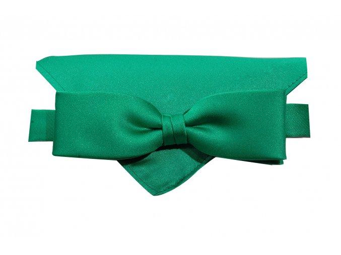 Dvojitý motýlek Brinkleys Slim s kapesníčkem - zelený