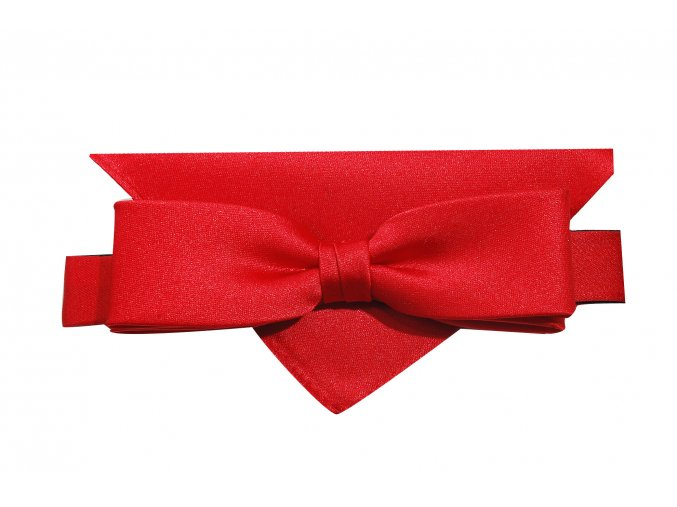 Dvojitý motýlek Brinkleys Slim s kapesníčkem - červený